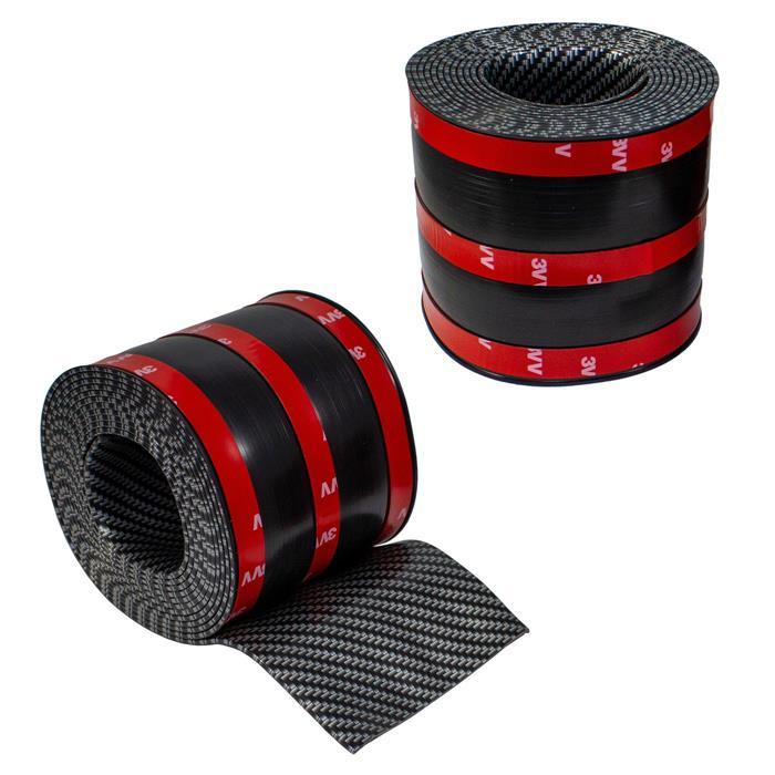 Auto Carbon Schutzleiste Kantenschutz Einstiegsleiste 3D-Effekt Gummi 10cm x 3m