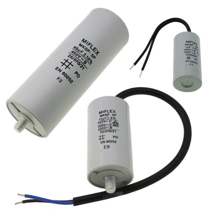 AnlaufKondensator MotorKondensator 0,68µF - 200µF 450V ; Miflex ; 0,68uF - 100uF