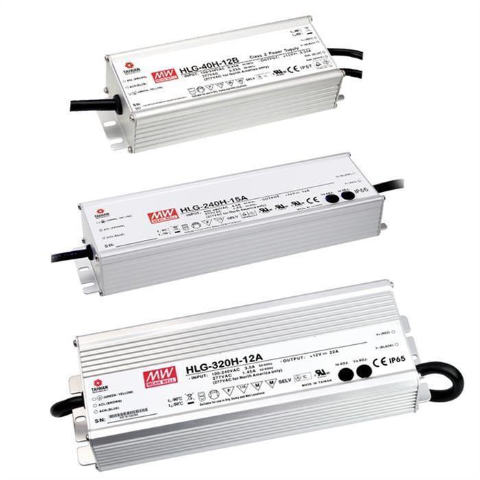 LED Netzteil 81W 24V 3,4A ; MeanWell HLG-80H-24A ; Schaltnetzteil