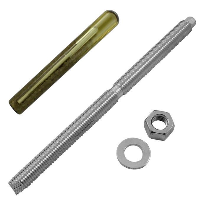 Edelstahl V4 Ankerstange M12 x 200mm + Verbundankerpatrone Schwerlastdübel