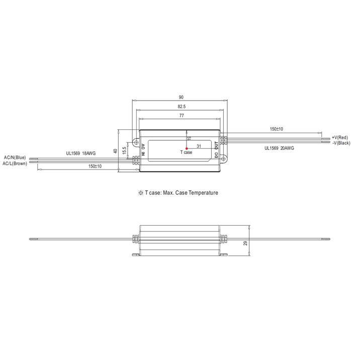 MeanWell APC-16-700 16W 700mA 9...24VDC Konstantstrom LED Netzteil