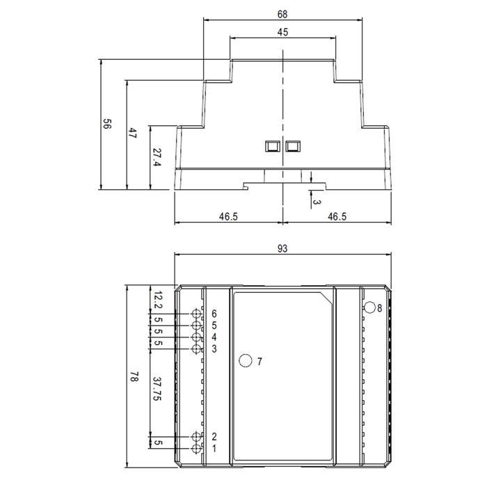 Hutschienen Netzteil 32W 5V 6,5A ; MeanWell, DR-60-5 ; Hutschienennetzteil