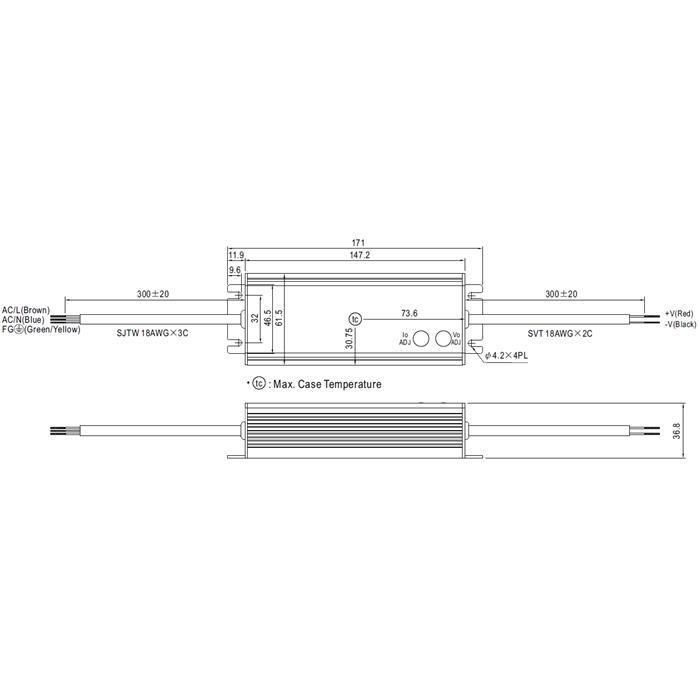 HLG-40H-12A 40W 12V 3,33A LED Netzteil IP65