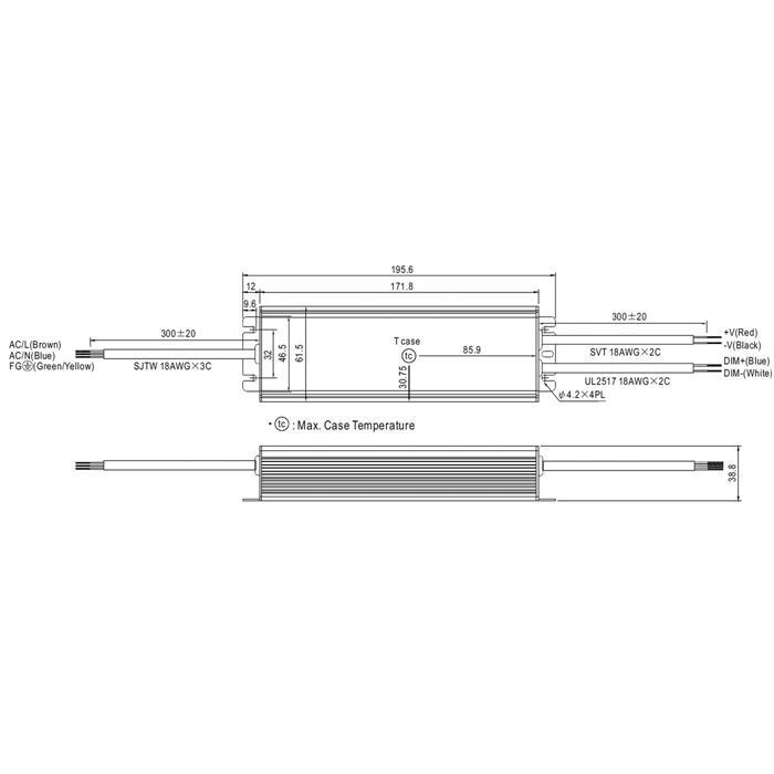 LED Netzteil 81W 24V 3,4A ; MeanWell HLG-80H-24B ; dimmbar 1-10V PWM