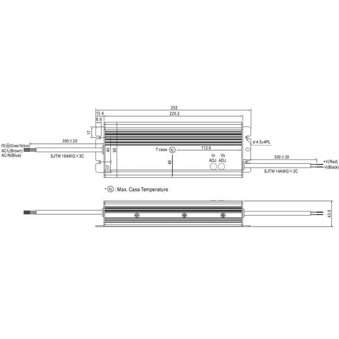 LED Netzteil 285W 15V 19A ; MeanWell HLG-320H-15A ; Schaltnetzteil