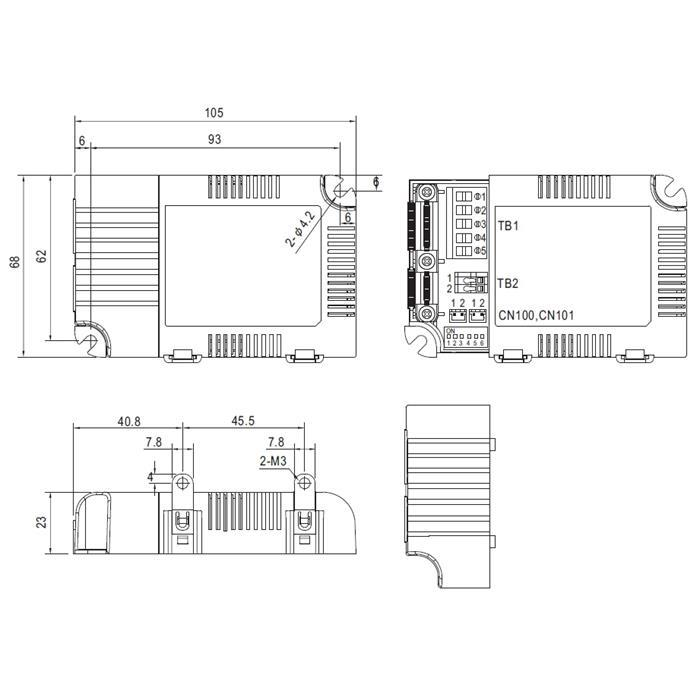 LED Netzteil dimmbar DALI ; MeanWell, LCM-25DA ; Konstantstrom