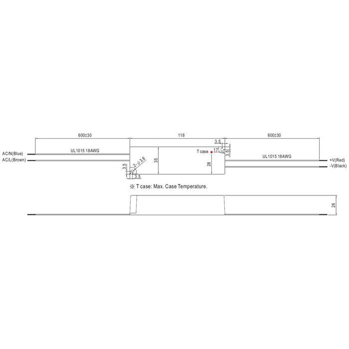 LED Netzteil 21W 9-30V 700mA ; MeanWell, LPC-20-700 ; Konstantstrom
