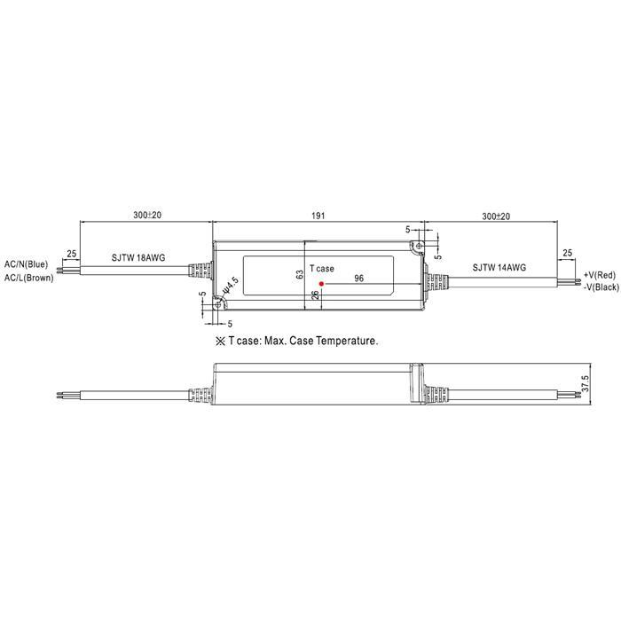 LED Netzteil 153W 48V 3,2A ; MeanWell, LPV-150-48 ; Schaltnetzteil