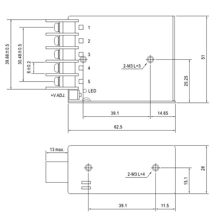 Schaltnetzteil / Netzteil 15,6W 12V 1,3A ; MeanWell, RS-15-12
