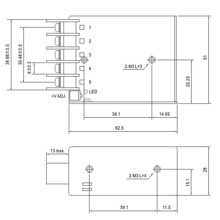 RS-15-12 15W 12V 1,3A Industrielles Netzteil