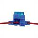 KFZ Auto Sicherungshalter KabelQuerschnitt 0,5...0,8mm² Schneid-Klemmtechnik