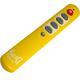 Universal Fernbedienung SeKi Slim Gelb Lernfähig für Senioren + Kinder