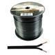 100m Lautsprecherkabel 2x 1,5mm² Schwarz Audiokabel Boxenkabel