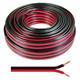 25m Lautsprecherkabel 2x 4mm² Rot Schwarz Audiokabel Boxenkabel