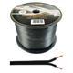 100m Lautsprecherkabel 2x 4mm² Schwarz Audiokabel Boxenkabel