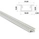 1m LED Profil B Silber 21x9,3mm Aluminium Einbauprofil für 12mm LED Streifen