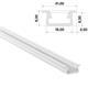 1m LED Profil B Weiß 21x9,3mm Aluminium Einbauprofil für 12mm LED Streifen