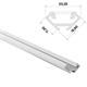 1m LED Profil C Weiß 17x17mm Aluminium 45° Eckprofil für 12mm LED Streifen