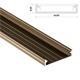 1m LED Profil Solis Inox 43x9mm Aluminium Aufbauprofil für 38mm LED Streifen