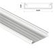 1m LED Profil Solis Weiß 43x9mm Aluminium Aufbauprofil für 38mm LED Streifen