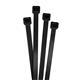 100x Kabelbinder 430 x 9mm Schwarz 80kg PA6.6 Polyamid Industriequalität