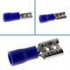 25x Flachsteckhülse teilisoliert 1,5-2,5mm² blau ; für Flachstecker