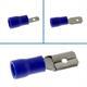 25x Flachstecker teilisoliert 1,5-2,5mm² blau ; Kabelschuh Steckverbinder